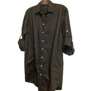 Zara Basic Long Sleeve Black Tunic S
